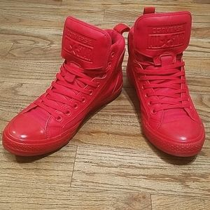 Converse Chuck Taylor red high top sneakers 8M